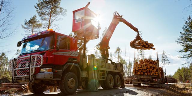 Lastbil - Stora Enso Skog