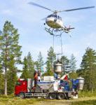 Helikoptergödsling - Stor Enso Skog