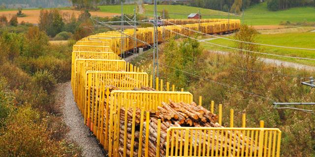 Timmertåg - Stora Enso Skog