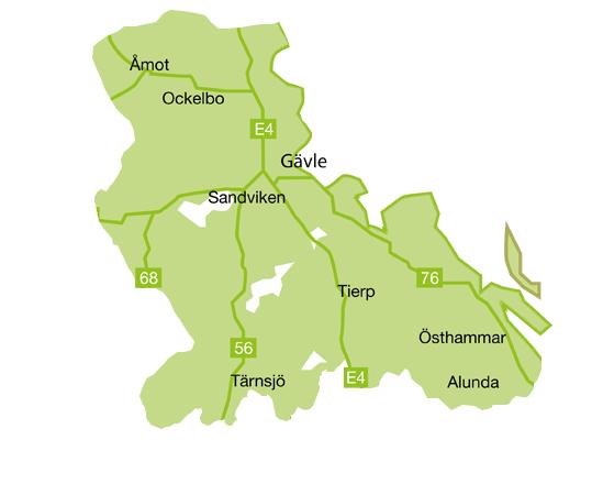 Norra Uppland - Gästrikland